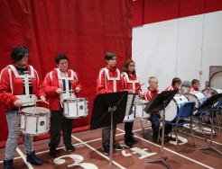 Grissom Drum Brigade students perform