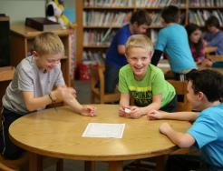 "Students play the kindness ""Roll a R.A.K."" game"