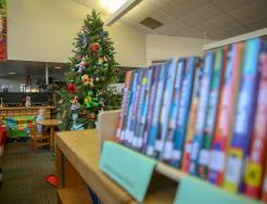The Library's Book Character Holiday Tree