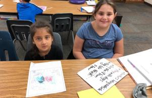 Kindergarten and 4th Grade Writing Buddies